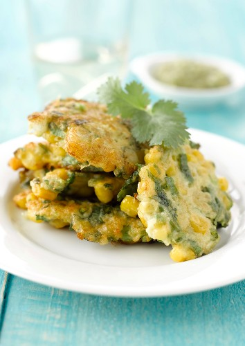 Green bean and corn galettes