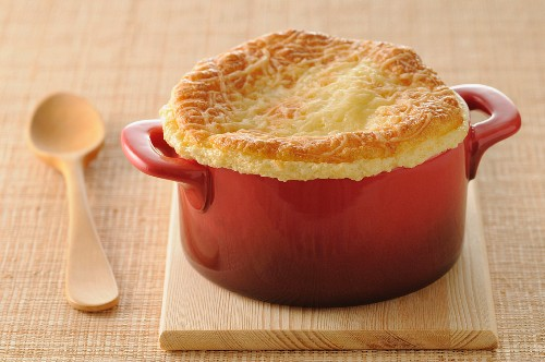 Traditional cheese soufflé