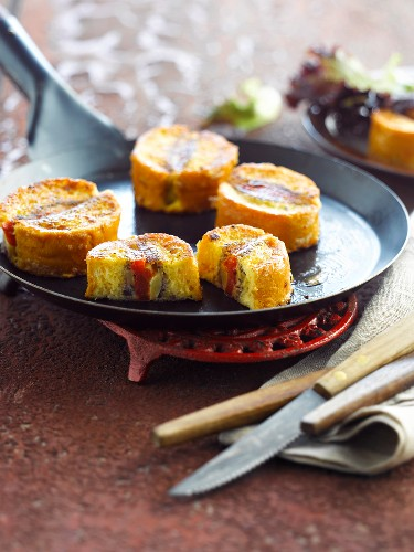 French toast stuffed with vegetables