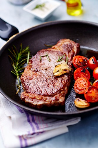 Pan-fried Wagyu beef sirloin steak