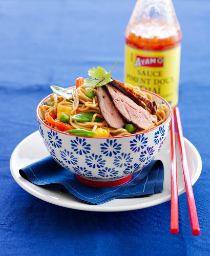 Chinese noodles with duck