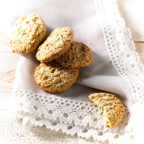 Sesame,poppyseed and sunflower seed cookies