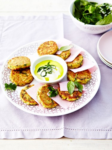 Vegetable and potato cakes