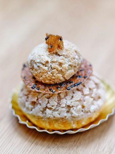 Sesame Religieuse from The Aki bakery in Paris