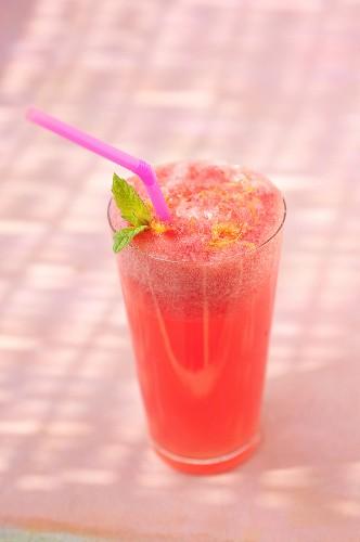 Watermelon and rose water lemonade