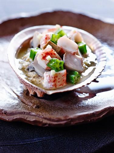 Tofu with abalone