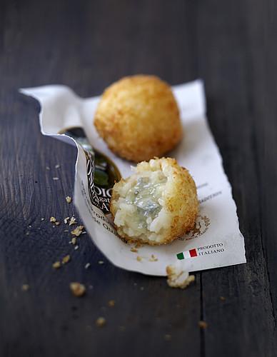 Risotto and gorgonzola Cromesqui