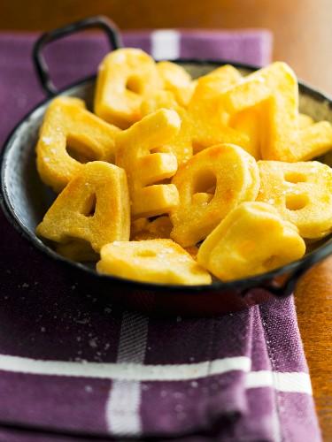 Alphabet fried potatoes