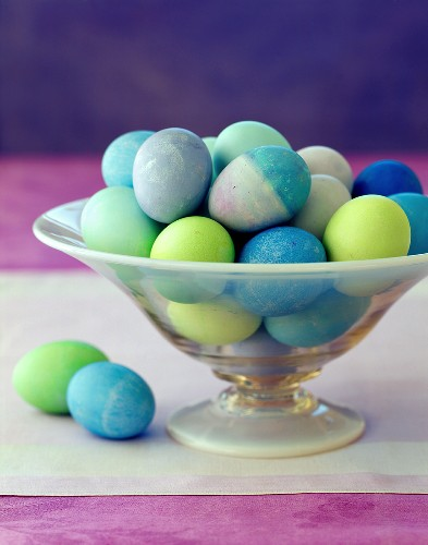 A Bowl of Colored Eggs