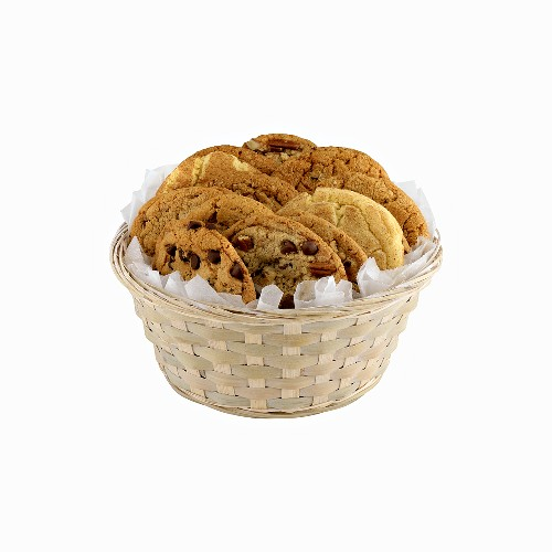 Small basket of assorted cookies