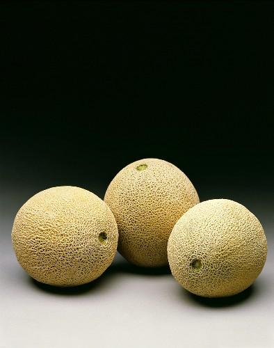 Three Cantaloupes