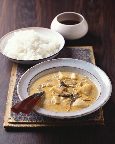Gaeng massamum (Beef curry with peanuts, Thailand)