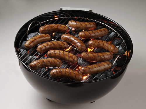 Bratwurst Sausage in the Grill