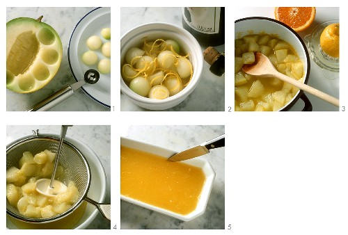 Making melon jelly