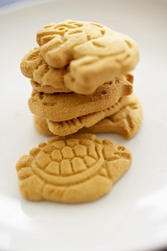 Stack of Animal Crackers; Close Up