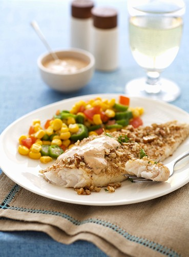 Catfish Fillet with Mixed Vegetables