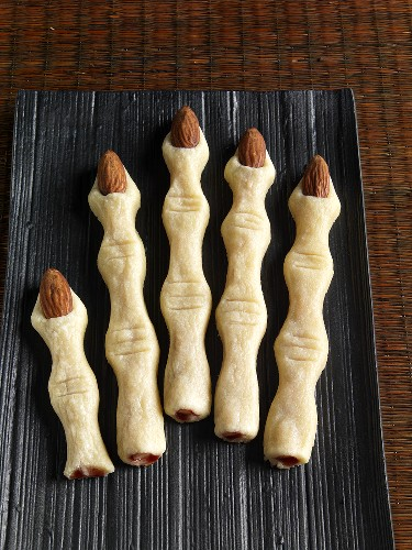 Finger cookies for Halloween