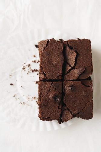 Chocolate Fudge Brownie; Quartered