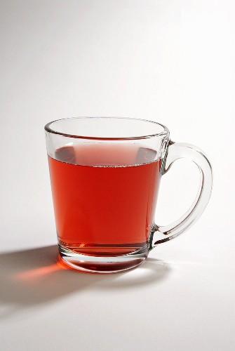 Acai Berry Tea in a Glass Mug