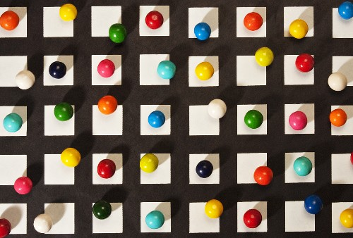 Colorful Gumballs on a Grid