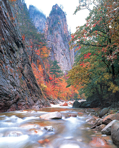 five colored valley, Seorak Mountain, gangwondo
