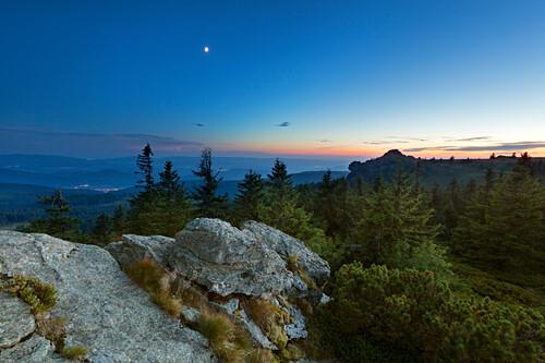 Blick vom Großen Seeriegel zum Richard-Wagner-Kopf, Großer Arber, Bayrischer Wald, Bayern, Deutschland