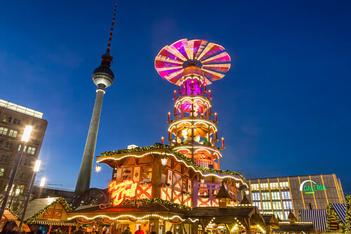 Christmas Market Alexander Square, TV Tower, Berlin