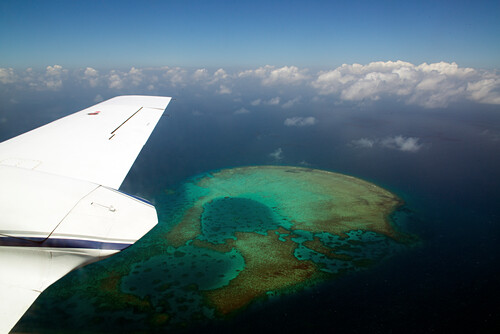 Flug von Cairns über das Great Barrier Reef nach Lizard Island, Lizard Island, Queensland, Australien