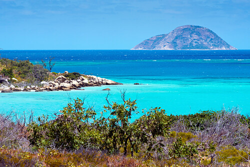 Die Blue Lagoon in der Lizard Island Gruppe, Lizard Island, Queensland, Australien