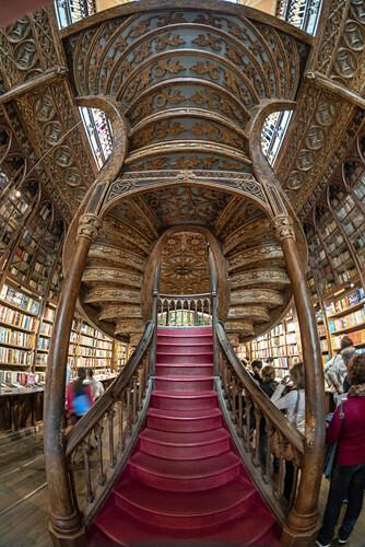 Lello Buchladen, Treppe,  Porto, Portugal