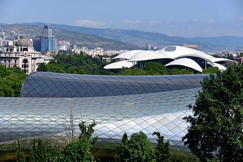 View over the Rike park, Tbilisi, Georgia