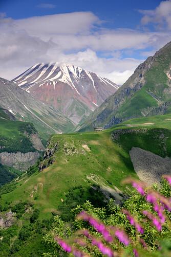 bei Gudauri, an der Heerstraße im Grossen Kaukasus, Georgien