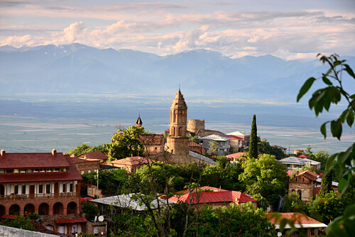 Blick auf Signachi, Kachetien, Ost- Georgien