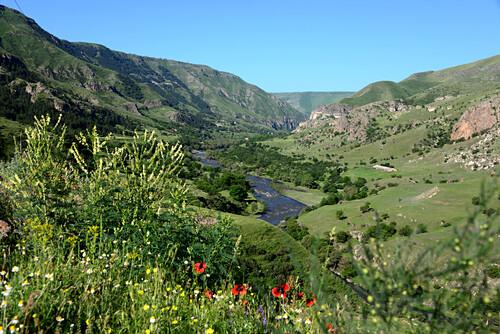 bei Vardzia im kleinen Kaukasus, Süd- Georgien