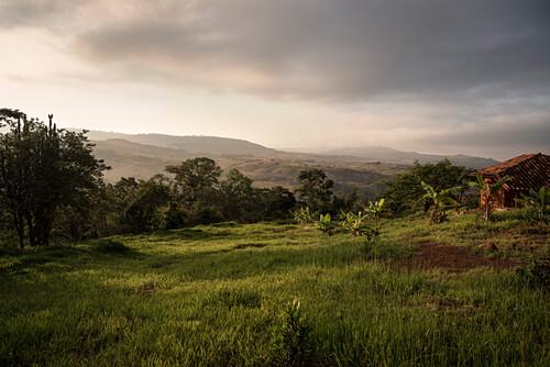 Ausblick von Barichara auf das umliegende Gebirge, Departmento Santander, Kolumbien, Südamerika