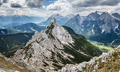 Mount Ahrnspitze during summer, Scharnitz, Tyrol, Austria