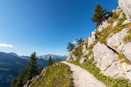 Path on Jenner, Berchtesgaden National Park, Berchtesgadener Land, Upper Bavaria, Bavaria, Germany, Europe