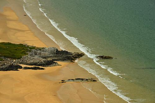 Blick auf den Strand bei Portsalon, County Donegal, Irland