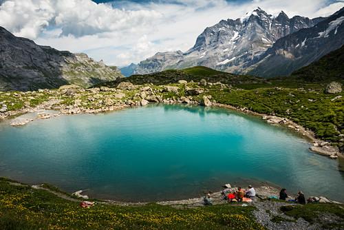 Oberhornsee, hinteres Lauterbrunnental,  Lauterbrunnen,  Berner Oberland, Schweiz