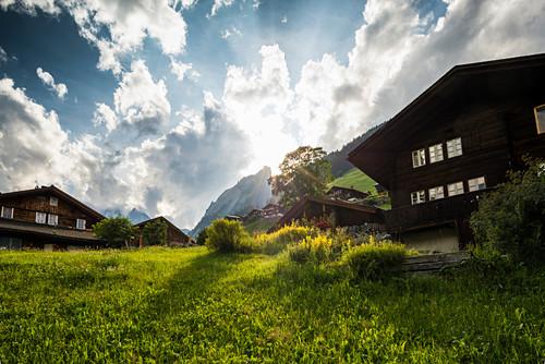 Gimmelwald, Lauterbrunnental, Lauterbrunnen, Kanton Bern, Berner Oberland, Schweiz