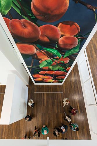 Gemälde von Karin Kneffel, Museum Frieder Burda, Architekt Richard Meier, Baden-Baden, Schwarzwald, Baden-Württemberg, Deutschland