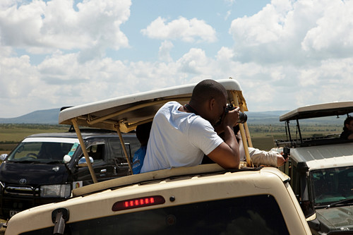 Tourists on safari, safari, national park, Masai Mara, Maasai Mara, Serengeti, Kenya