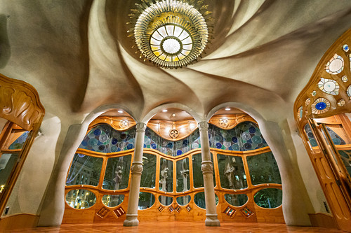 Im Inneren der Casa Batllo von Antoni Gaudi, Barcelona, Spanien