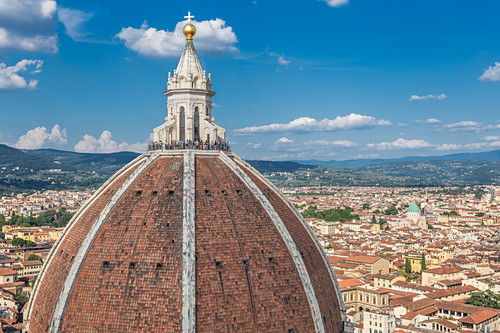 Die berühmte Kuppel der Basilica di Firenze in Florenz, Italien