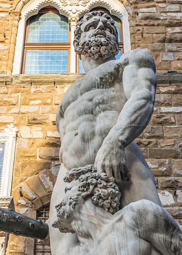 Statue von Herkules am Piazza della Signoria, Florenz, Italien