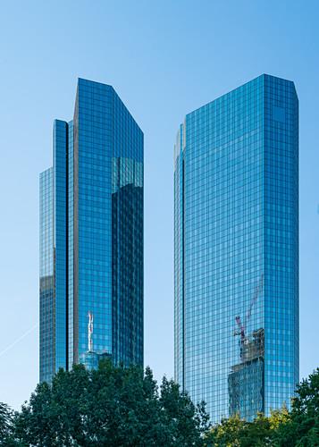 Hochhäuser in Frankfurt am Main, Deutschland