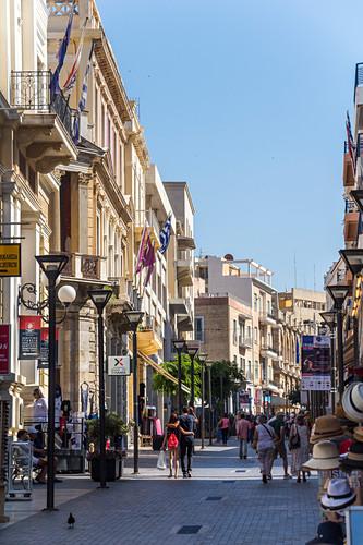 Fußgängerzone 25is Avgoustou, Altstadt von Iraklion, Norden Kreta, Griechenland