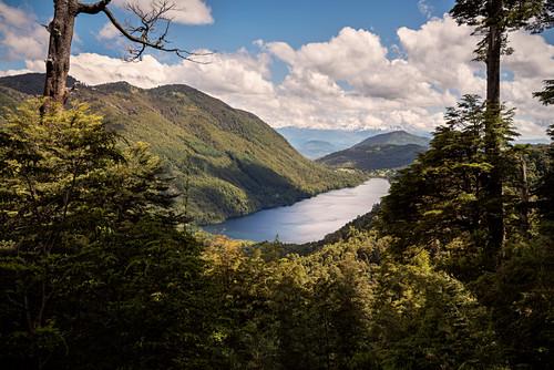 Tinquilco See (Lago Tinquilco), Parque Nacional Huerquehue, Pucon, Región de la Araucanía, Chile, Südamerika