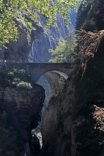 Schlucht des Hinterrhein an der Via Mala, Graubünden