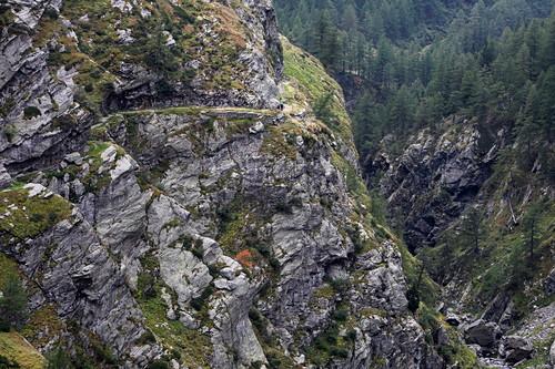 Cardinelloschlucht, Via Spluga bei Isola, Sondrio, Lombardei